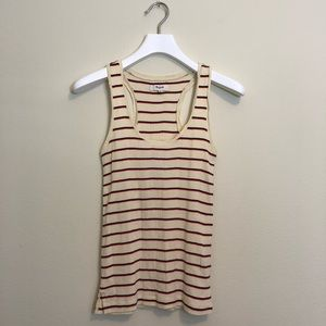 Madewell Striped Tank Top NWOT XS